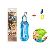DIIL Pet Cat Dog viaggi bottiglia d' acqua pieghevole Cat Dog Water Bottle Travel Water dispenser portatile acqua feeder con moschettone per esterni