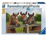 Ravensburger 14566 - Friedliche Pferde - 500 Teile Puzzle