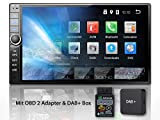Tristan Auron BT2D7020A Autoradio + DAB+ Box und OBD 2 Adapter. Android 9.0, 7'' Touchscreen Bildschirm, GPS Navi, Bluetooth Freisprecheinrichtung, Quad Core, USB/SD, OBD 2, DAB, 2 DIN