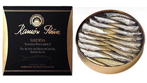 Petites sardines à l'huile d'olive piquante 3 x 130 g, Ramón Peña / Espagne