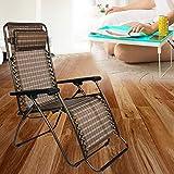 Vira Sales Metal Zero Gravity Relax Recliner Folding Chair (Multicolour; Standard Size)