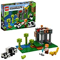 LEGO 21158 Minecraft The Panda Nursery Building Set with Alex and Animal Figures, Toys for Kids 7+ Years Old