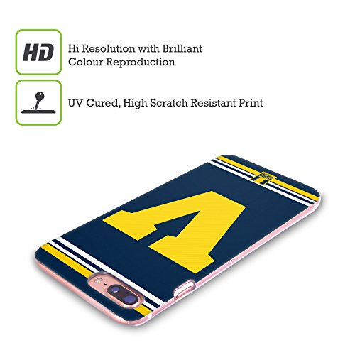 Head Case Designs Arancione C Team Del College Cover Retro Rigida per Apple iPhone X Giallo V