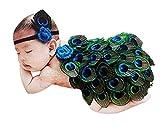 THEE Disfraz de Fotografía de Pavo Real Bebé Recién Nacido Costume