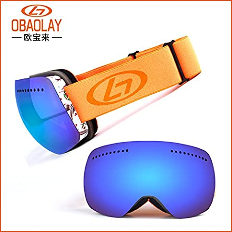 ZHGI Hombres y mujeres nuevos de dos niveles panorámica anti-empañamiento gafas de esquí motocicleta paraviento
