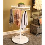 Dipamkar Vintage Metal Rotatable Clothes Rail Garment Rack Coat Stand Home Storage Retail & Shop Fitting With Shelf Ф70cm