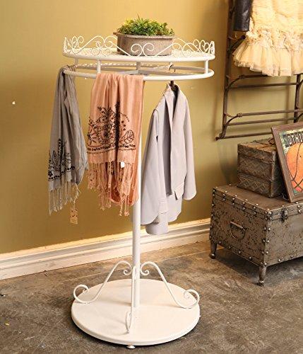 DIPAMKAR® Metal Rotating Clothes Garment Rail Storage Display With Shelf Ф70cm