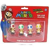 Super Mario 6cm Toad Minifiguren 4er Set