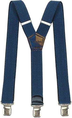 Decalen bretelle uomo y forma molto robusto clip in metallo, larghezza 4 cm di lunghezza regolabile unica misura tutti (luce blu)