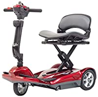 Drive Medical Travelite Folding Mobility Scooter, Red