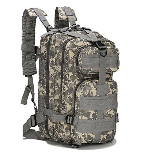 horeen 40L Sport Rucksack Militär Im Freien Tactical Rucksack 3 Tage Assault Paket Mochila Molle Camping Wandern Wandern Trekking Bug Out Bag Tasche (gray Camouflage) (3-tages-rucksack)