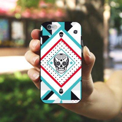 Apple iPhone 4 Housse Étui Silicone Coque Protection Tête de mort Motif Motif Housse en silicone noir / blanc