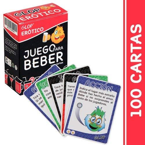 Glop Erotico - Juegos para Beber - Juego para Fiestas - Juegos de Mesa - 100 Cartas
