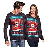 BaZhai de Navidad, Suéter Feo para Dos Personas Suéter de Parejas de Navidad Blusa sin Mangas de Tops de Mujer Mono de Jersey de Manga Larga con Estampado navideño para Hombre y Mujer Camisetas