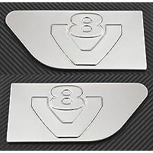 Accesorio decorativo para los lados derecho e izquierdo de Scania R V8: 2piezas de acero inoxidable con efecto espejo.