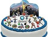 Cakeshop VORGESCHNITTENE UND ESSBARE Avengers Szene Kuchen topper (Tortenaufleger)