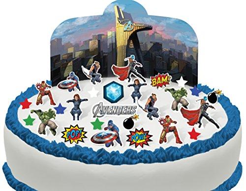 TENE UND ESSBARE Avengers Szene Kuchen topper (Tortenaufleger) (Avenger Cupcake Toppers)