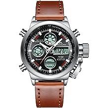 Relojes Hombre Reloj Militar Deportivos Digital Impermeable LED Cronometro Calendario Fecha Electrónico Reloj Grandes de Pulsera