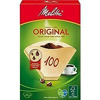 Melitta 126033, Filtros de Papel 100/40, Marrón Natural
