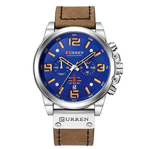UINGKID Herren Uhr analog Quarz Armbanduhr wasserdicht Uhren Business Gürtel Uhr Kalender lässig Quarz sechs Stück Uhr