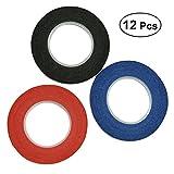 NUOLUX nastro adesivo per mascheratura - Tape Materiali di preparazione - 1/8 inch,12 rolls (Colore casuale)