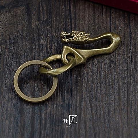 Handmade solid brass faucet hook key chain pendant,Small linen wreath mix