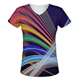Snoogg Colorful Tribals Womens Casual V-Neck All Over Printed T Shirts Tees