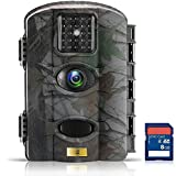 Artitan Wildlife Camera No Glow 12MP Trail Game Camera 65ft Infrared Night Vision Motion Activated Hunting Cam with Time Lapse IP65 Waterproof for Nature Garden Home Security Surveillance with SD Card