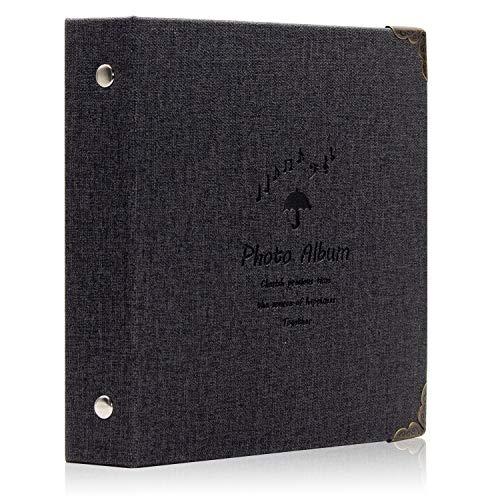 Amimy 100 Pockets álbum de Fotos para Fujifilm Instax Mini 7s 8 8+ 9 25 50 70 90, Polaroid Snap PIC-300, HP Piñón, Kodak Mini 3 Pulgadas Film (Negro)
