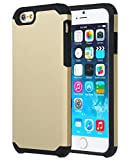 iPhone 6S Cover, iPhone 6 Back Cover, SGM® Slim Fit Shield Cover, Hard Protective Modern Style TPU + PC Phone Cover for iPhone 6S / iPhone 6 (Gold+ B