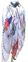 Women/Girls London Fashion Souvenir Scarf Wrap Shawl Maxi Sarong