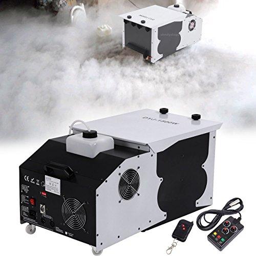Ridgeyard 2.5L 1500W Macchina del fumo macchina di nebbia Emettitore di messa a terra basso a effetto ghiaccio secco Smoke Machine con telecomando per danza da matrimonio DJ Stage Party Show Theater