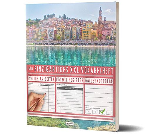 XL Vokabelheft: 100+ Seiten, 2 Spalten, Register / Lernerfolge auf jeder Seite zum Abhaken / PR101