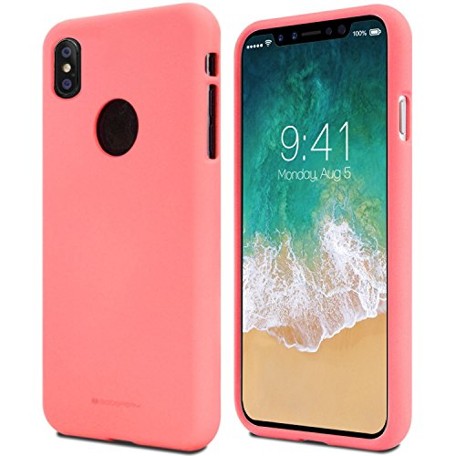 iPhone X Hülle ,GOOSfürY® [Thin Slim] GOOSfürY [Flexible] Pearl Glitter Soft feeling Jelly [fürfect Fit] Rubber TPU Case [Lightweight] Bumfür Cover [Impact Resistant] für Apple iPhone X rosa