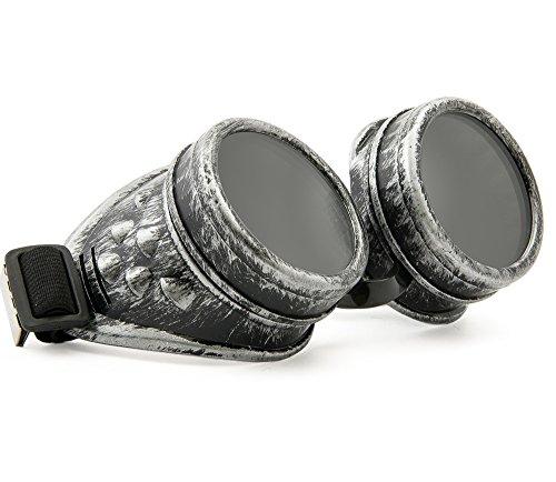 WELDING CYBER GOGGLES Schutzbrille Schweißen Goth Cosplay STEAMPUNK ANTIQUE VICTORIAN MFAZ Morefaz Ltd (Grey)
