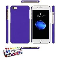 Muzzano Coque Rigide Ultra-Slim Apple IPHONE 7 [Le Pearls Premium] [Violet] de Stylet et Chiffon OFFERTS - La Protection Antichoc Ultime, Elegante ET Durable pour Votre Apple IPHONE 7