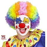 Widmann - Pe946  - Perruque clown multicolore enfant flamme retardante