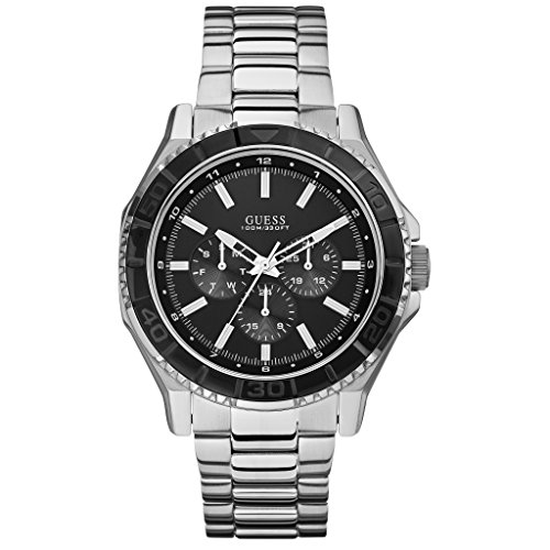 Guess Herren-Armbanduhr Analog Quarz Edelstahl W0479G1