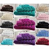 Algodón egipcio toallas Premium Extra Suave 600gsm Kensington franjas de satén 4piezas juego de toallas, color morado
