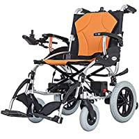 EMOGA Electric Powered Wheelchair Folding Lightweight 18Kg,Seat Width 46Cm,Removable Lithium Battery Mobility Chair,Motorized Wheelchairs