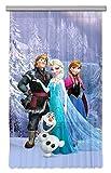 AG Design FCSL 7147 Disney Frozen, Kinderzimmer Gardine/Vorhang, 1 Teil, Stoff, Mehrfarbig, 140 x 245 cm