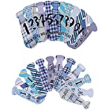 Phenovo Set Of 24pcs Lovely Baby 1-12 Monthly Milestone Necktie Stickers First Year Baby Shower Photo Props