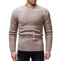 Cebbay Suéter de los Hombres Liquidación Chándales Camisa de Manga Larga Rayas otoño Invierno cálido Ropa de Punto Deportiva