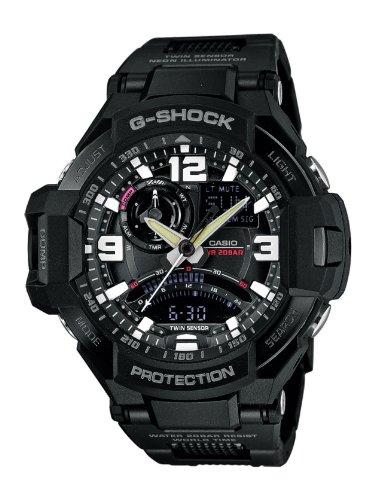 Casio - GA-1000FC-1AER - Montre Homme - Quartz Analogique - Bracelet Résine Noir