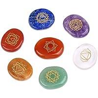 Reiki Chakra Healing Stones mit eingraviertem Symbol Natural Irregular Crystal Stone Schleifen sieben Healing... preisvergleich bei billige-tabletten.eu