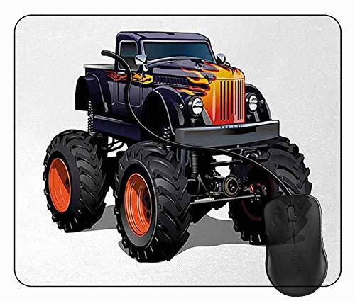 Mauspad ed Hood Cooler Monster Truck, 24x20cm Gaming Mauspad Matte Reibungslos Weich Rutschfester Gummi Basis für PC Laptop -