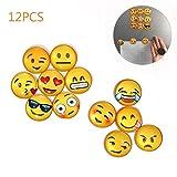 LZHOO 12 Stücke Emoji Magnete witzige Magnete, kühlschrank Magnete Kinder 3D Witzig für Kühlschrank Whiteboard oder andere metallische Untergründe geeignet.