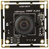 ELP 1080p Full HD H.264 USB-Kamera-Module Support Android Linux-Windows-Betriebssystem für die Videoüberwachung (180degree Fisheye Objektiv)