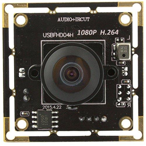 ELP 1080p Full HD H.264 USB-Kamera-Module Support Android Linux-Windows-Betriebssystem für die Videoüberwachung (180degree Fisheye Objektiv)