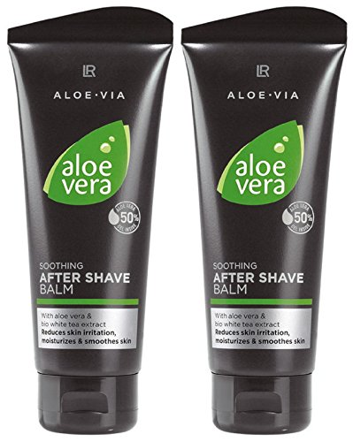 LR ALOE VIA Aloe Vera Men After Shave Balsam nach der Rasur (2x 100 ml) -